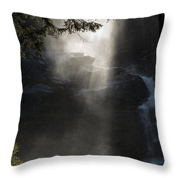 When Sunlight And Water Spray Meet 03 Throw Pillow
