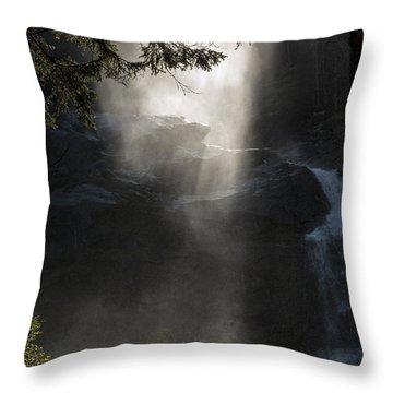 When Sunlight And Water Spray Meet 03 Throw Pillow