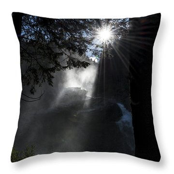 When Sunlight And Water Spray Meet 05 Throw Pillow