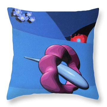 When Sunny Gets Blue Throw Pillow