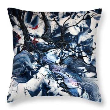 When The Birds Return Throw Pillow by Jan VonBokel
