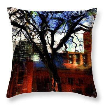 When The Bow Breaks Throw Pillow by Terence Morrissey