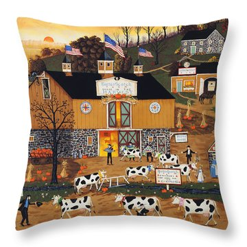 When The Cows Come Home Throw Pillow by Joseph Holodook