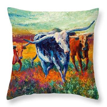 When The Cows Come Home Throw Pillow
