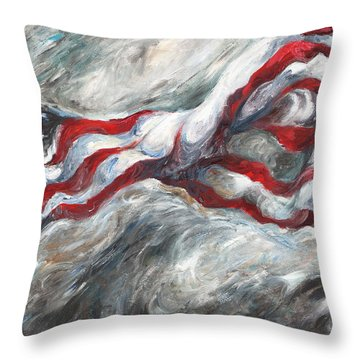 When The Dust Settles Throw Pillow by Francine Stuart