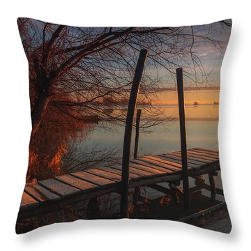 When The Light Touches The Shore Throw Pillow