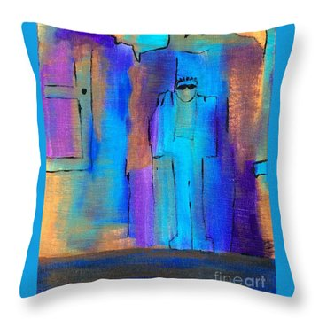 When The Lines Blur Throw Pillow