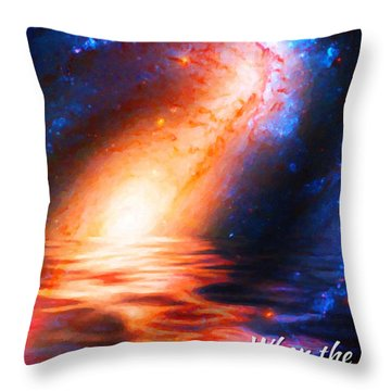 When The Morning Stars Sang Throw Pillow