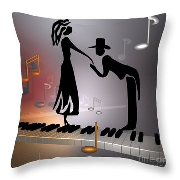 When The Music ... Throw Pillow