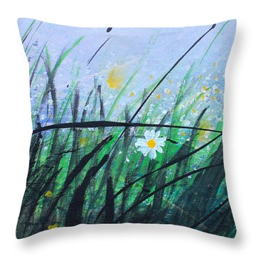 When The Rain Is Gone Throw Pillow by Kume Bryant