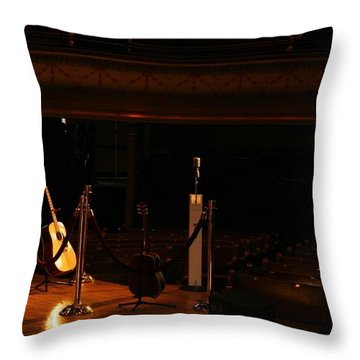 When The Ryman Sleeps Throw Pillow