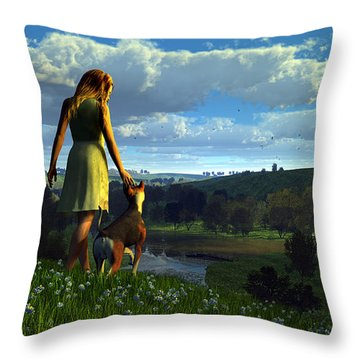 When The Sparrows Sing Throw Pillow