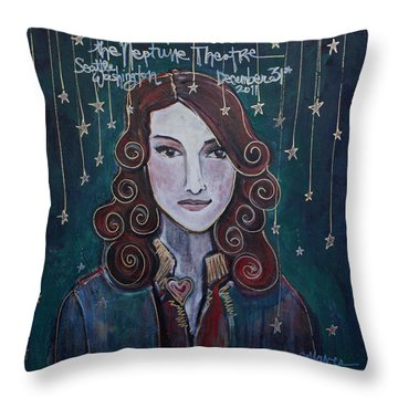 When The Stars Fall For Brandi Carlile Throw Pillow