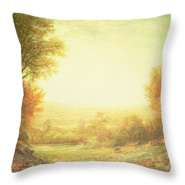 When The Sun In Splendor Fades Throw Pillow by John MacWhirter