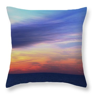 When The Sun Kissed The Sky  Throw Pillow