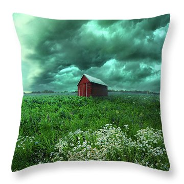When The Thunder Rolls Throw Pillow