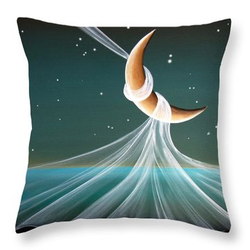 When The Wind Blows Throw Pillow by Cindy Thornton