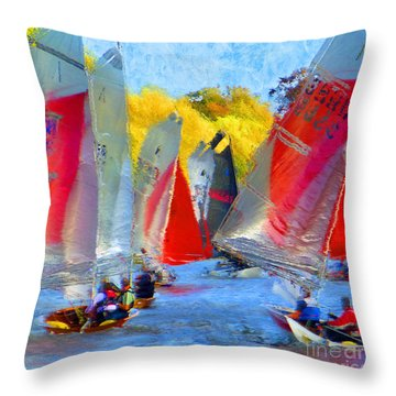 When The Wind Blows Throw Pillow