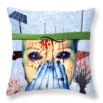 When They Take The Mind Throw Pillow by Vennie Kocsis