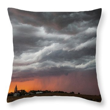 When Trouble Rises.....  Throw Pillow