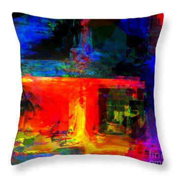 When Water Will Not Stop Throw Pillow