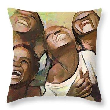 When We Were Boys Throw Pillow by Wayne Pascall
