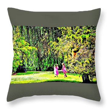 When We Were Young II Throw Pillow