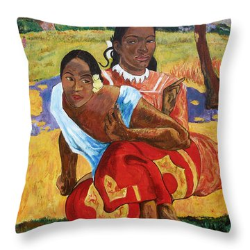 Throw Pillow featuring the painting When Will You Marry? by Tom Roderick