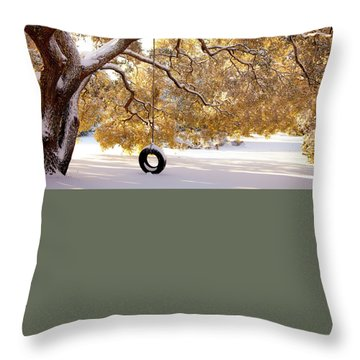 When Winter Blooms Throw Pillow by Karen Wiles