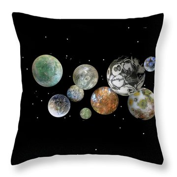 When Worlds Collide Throw Pillow by Tony Murray