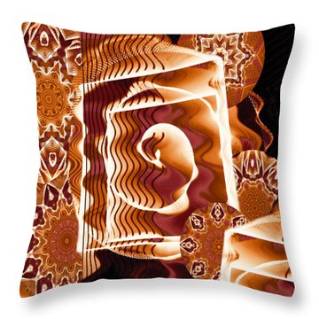 When Worlds Kaleide Throw Pillow