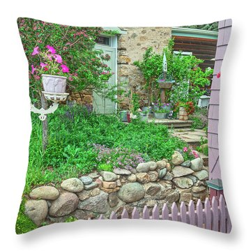 When You're In Idaho Springs, Colorado, Have A Beer With Us In Our Backyard. Cool Your Pipes Here. Throw Pillow