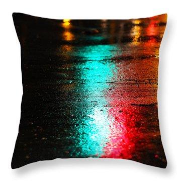 Whenever It Rains Throw Pillow