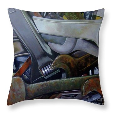 Where Have All The Mechanics Gone Throw Pillow