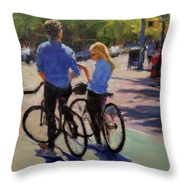 Where Are We? Throw Pillow by Peter Salwen