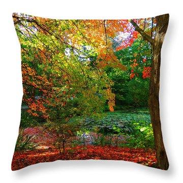 Where Autumn Lingers  Throw Pillow