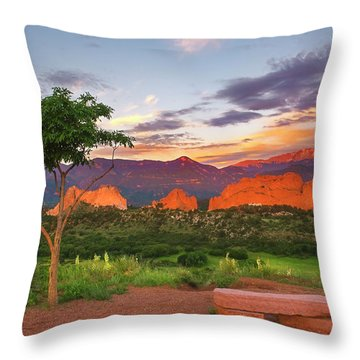 Throw Pillow featuring the photograph Where Beauty Overwhelms by Tim Reaves