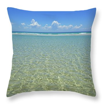 Where Crystal Clear Ocean Waters Meet The Sky Throw Pillow