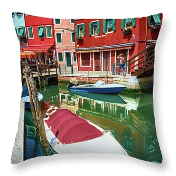 Where Did You Park The Boat? Throw Pillow