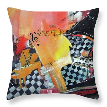 Where Does The Music Go Throw Pillow