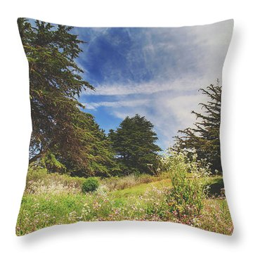 Where Fairies Play Throw Pillow by Laurie Search