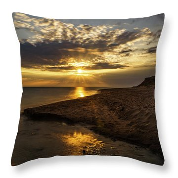 Throw Pillow featuring the photograph Where Freshwater Joins Saltwater by Chris Bordeleau