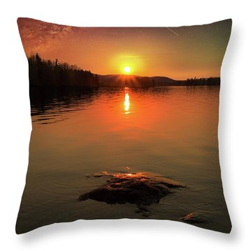 Where Heaven Touches The Earth Throw Pillow