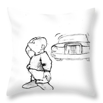 Where I Am... Throw Pillow by Line Gagne