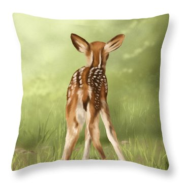 Throw Pillow featuring the painting Where Is My Mom? by Veronica Minozzi