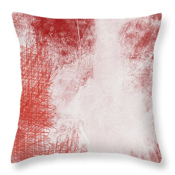 Where It Takes You- Abstract Art By Linda Woods Throw Pillow