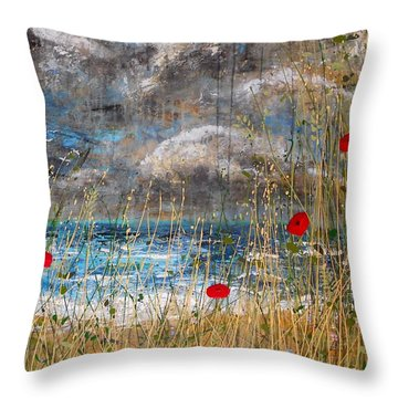 Where Poppies Blow Detail Throw Pillow