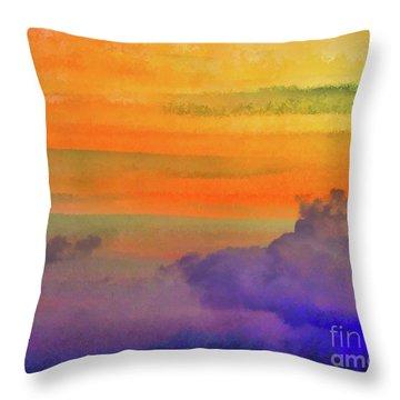 Where Rainbows Begin Throw Pillow