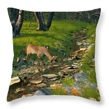Where The Buck Stops Throw Pillow