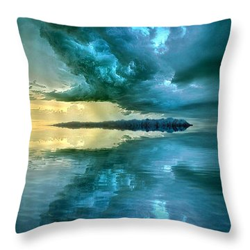 Where The Clock Stops Spinning Throw Pillow